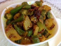 Okra potato curry