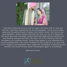 great vancouver wedding A recent testimonial from Sam & Puneet. Learn how to photograph Sikh weddings. Pre-Order my book here: http://amzn.to/1JIqVTW #indianbride #indianwedding #reception #wedding #punjabi #punjabibride #indianfashion #fashion #indianweddingbuzz #indianweddingphotographer #vancouverweddingphotographer #awardwinningphotographer #sohalphotography #sony #sonya7ii #author #amherstmedia by @sohalphotography  #vancouverindianwedding #vancouverwedding #vancouverwedding