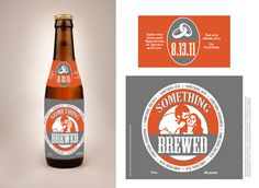 """Greg and I will be making (with some help) a home brew.  I like this label.  This is gonna be fun!  """"something brewed"""" - homebrew label for wedding favor"""