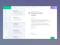Email Application Design Inspiration — December 2016 – Collect UI Design, UI / UX Inspiration Blog – Medium