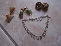 Nice silver bracelet and earrings lot free shipping great deal $5.99
