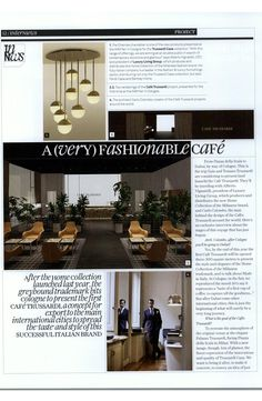 #Trussardi Café concept by #LuxuryLiving at #InterniMagazine January 2015 issue