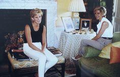 Princess Diana at home in Kensington Palace