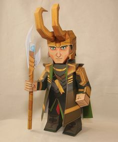Fashion and Action: Burdened with Glorious Papercraft Loki by Xavier Gale-Sides