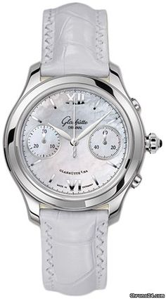 Glashütte Original Lady Serenade Chronograph $6,391 #Glashütte #watch #chronograph #watches Silver toned hands, Applied Arabic numbers & indexes