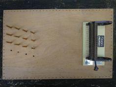 Smocking machine for gathering fabric ready for hand smocking 11.7.14