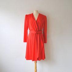 1980s dress / diane von furstenberg / wrap by RockAndRollVintage, $59.00