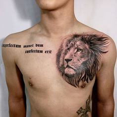 Leading Tattoo Magazine & Database, Featuring best tattoo Designs & Ideas from around the world. At TattooViral we connects the worlds best tattoo artists and fans to find the Best Tattoo Designs, Quotes, Inspirations and Ideas for women, men and couples. Lion Chest Tattoo, Lion Tattoo Sleeves, Lion Head Tattoos, Mens Lion Tattoo, Cool Chest Tattoos, Eagle Tattoos, Leg Tattoo Men, Bad Tattoos, Sleeve Tattoos