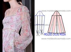 Detalhes de modelagem e design de moda - Moldes Moda por Medida