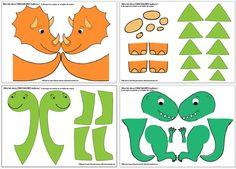 ) + Printable Dinos Bal - Bastelideen Kinder -My dinosaur birthday decor! Dinosaur Printables, Dinosaur Activities, Dinosaur Crafts, Dinosaur Decorations, Dinosaur Birthday Cakes, Dinosaur Party, Dinosaur Dinosaur, Dinosaur Balloons, Third Birthday