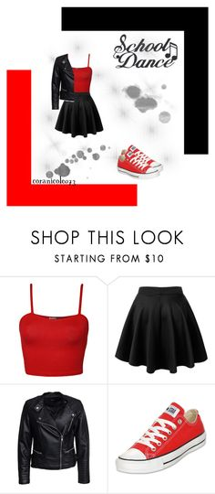 """""""School Dance"""" by coranicole073 on Polyvore featuring WearAll, Sisters Point and Converse"""