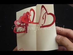 Linked Spiral Hearts TUTORIAL & FREE TEMPLATE - Valentine's Day Pop-up Card