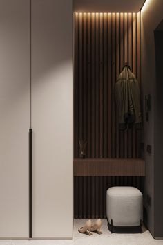 Modern Apartment Design, Apartment Interior, Bathroom Interior, Home Interior Design, Interior Architecture, Pendant Lighting Bedroom, Home Entrance Decor, Brown Decor, Vestibule