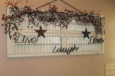 Charming Shutter Wall Art Decoration