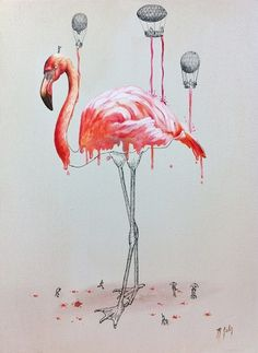 Imaginative Illustrations of Animals Being Built and Colorized by Tiny Figures