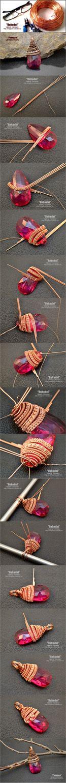 Wire Wrap Pendant - http://magazin-rukodel.ru/