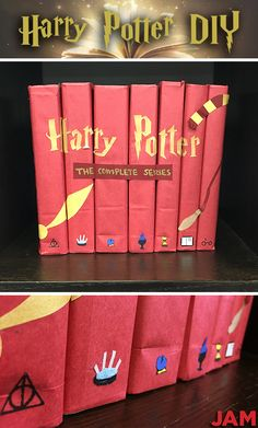 Fan of Harry Potter? (Who isn't?) Learn how to create your own Harry Potter DIY Book Covers! All you need is JAM!