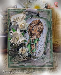Passionate Paper Creations: Casey - Little Darlings Rubber Stamps ~ Stamping & Colouring.