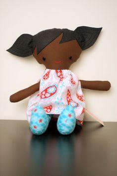 Adair Doll Black Hair Black eyes par ragamuffinbaby sur Etsy