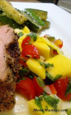 Mango Salsa - We've had this with fish tacos and grilled pork tenderloin.  So versatile, delicious and easy!!