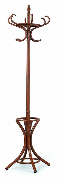 Coat And Hat Wooden Rack Antique Style With Umbrella Stand Hanger With 12 Hooks