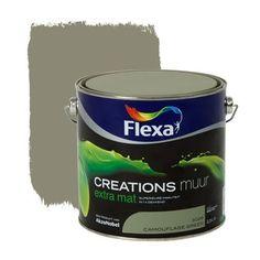 Flexa Creations muurverf extra mat camouflage green 2,5