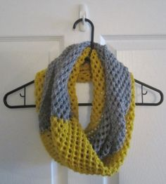 Color Block Scarf // Hand Knit Infinity Scarf by itsCOWLdoutside, $35.00