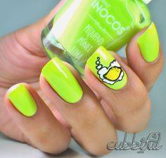 cubbiful: Nail Art Week: Make Lemonade! with Inocos Lima