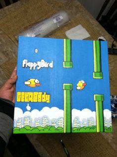 Floppy Bird Painting Original Floppybird Flappy Bird Amazing Color Famous Flapy   eBay