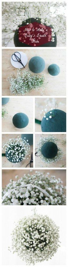 DIY Baby's Breath Wedding Globes - Rustic Wedding Chic - maybe with fake bb?