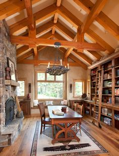 An Open Vacation Home in Montana - Timber Home Living