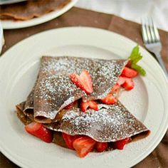 Whole wheat chocolate crepes