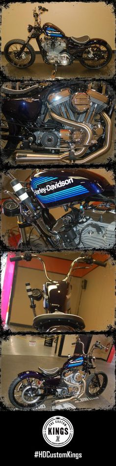 In memory of a Hellbender Harley-Davidson extended family member who loved the color blue and retro-styled bikes, a stock SuperLow was transformed into this old-school creation. | Harley-Davidson #HDCustomKings
