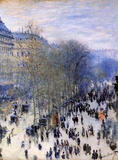 my-water-lilies:  Boulevard des Capucines, Claude Monet.