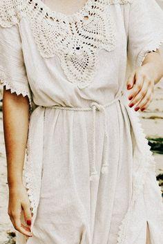 ∆ ∆ ∆ pretty crepe dress with ornate trim and neckline