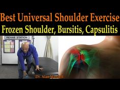2-in-1 Stretch to Correct Shoulder Pain, Rounded Shoulders, Bursitis, Rotator Cuff - Dr Mandell - YouTube