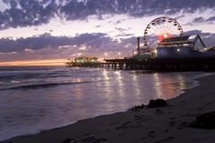 9 Best Sunsets in the World Santa Monica Pier, Los Angeles Wonderful Places, Beautiful Places, Beautiful Scenery, Santa Monica California, Travel List, Shopping Travel, Best Sunset, Travel Channel, The Great Outdoors