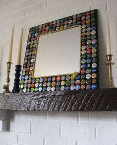 A great way to use up all those bottle caps and a fantastic piece of art! Also a good gift to family and friends!