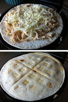 23 Things You Can Cook In A Waffle Iron | Waffle Iron Quesadilla.