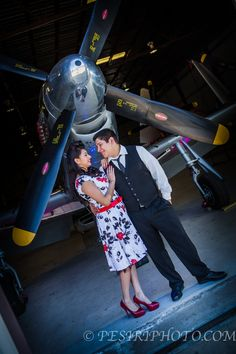 P-51 Airplane Engagement  @ Planes Of Fame in Chino CA