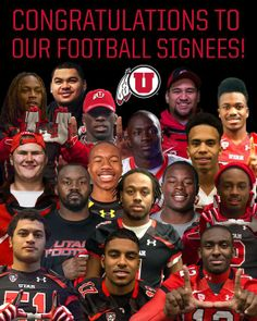 Congratulations to the 2014 Utah Football Signees! Utah Utes Football, National Signing Day, University Of Utah, Home Team, Salt Lake City, Football Season, Congratulations, Athlete, Baby