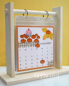 This would be great for all the gel-, nail polish- and stamping colors in my nail studio. Desk Calender, Flip Calendar, Table Calendar, Diy And Crafts, Crafts For Kids, Paper Crafts, November Kalender, Kalender Design, Diy Gifts