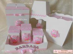Kit - Corujinhas rosa - 7 peças kecaatelie@gmail.com
