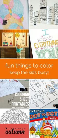 20 fun things to draw and color for kids - great activity to keep kids busy!