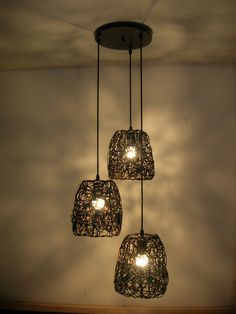 interwoven aluminum wires for light shades