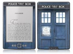 TARDIS Kindle holder. Makes me wish I had a Kindle!