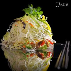 Crystal clear? Enjoy these Chillli Basil Tossed Glass Noodles!