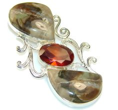 Trendy Montana Agate Sterling Silver Pendant – Jewelry