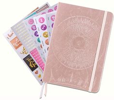 Law of Attraction Daily Planner – Deluxe Day Calendar and Gratitude Journal to Increase Productivity, Happiness & Time Management – Non Dated, Rose Gold Hardcover + Bonus Stickers – Daily Buy Tips - planner Planner Free, Goals Planner, Monthly Planner, Life Planner, Planner Stickers, Planner Ideas, Notebook Stickers, Law Attraction, Law Of Attraction Planner
