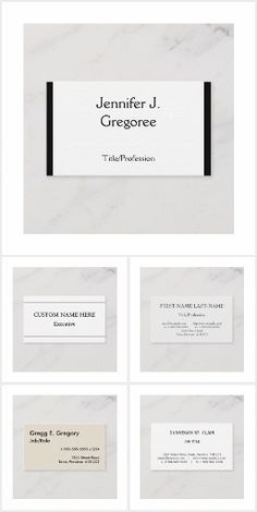 Simple, professional business cards with a light colored background. Professional Business Cards, Cards Against Humanity, Collections, Color, Design, Colour, Design Comics, Colors